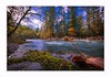 Colorful day (Krasne oci) Tags: water river washougalriver washingtonstate northwest nature landscape trees rocks evabartos artphotography texturedphoto photographicart