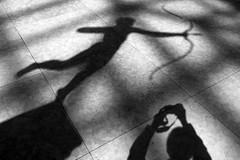 Diana and Me (Joe Josephs: 3,166,284 views - thank you) Tags: met metmuseum metropolitanmuseumofart nyc newyorkcity travel travelphotography art arthistory artmuseums culture history shadows bw blackandwhite blackandwhitephotography monochrome daylight naturallight diana augustussaint–gaudens augustussaint–gaudens