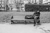 The Sleeper (daveseargeant) Tags: bench sleep london green park leica x typ 113 monochrome white black mayfair slazenger