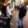 the encounter (j.p.yef) Tags: peterfey jpyef yef people girls smiling street streetlife netherlands niederlande denhaag digitalart photomanipulation square texture theresa men bestportraitsaoi