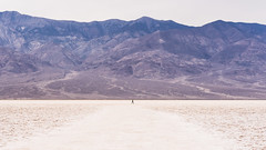man in landscape (scottrackers) Tags: deathvalley saltflats badwater