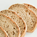 Sliced fresh bread