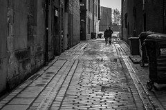 Together (Leanne Boulton) Tags: road monochrome building urban street candid streetphotography candidstreetphotography streetlife urbanlandscape sociallandscape landscape eyecontact candideyecontact man woman male female couple walking together love romance loving connection silhouette leadinglines cobbles trash waste bins brick composition tone texture detail depth naturallight outdoor light shade shadow reflection city scene human life living humanity society culture people canon canon5d 5dmkiii 70mm ef2470mmf28liiusm alley alleyway backstreet black white blackwhite bw mono blackandwhite glasgow scotland uk