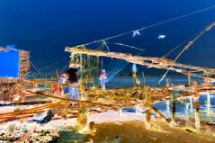 India - Kerala - Cochin - Chinese Fishing Nets - 91bb (asienman) Tags: india kerala cochin chinesefishingnets asienmanphotography asienmanphotoart asienmanpaintography