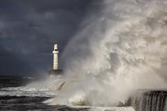 BWP_6067 (b_jw40) Tags: aberdeen beach harbour breakwater wave sea storm beast lighthouse water aberdeenshire
