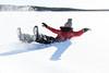 Falling in snow (VisitLakeland) Tags: snow fall fun play woman forest nature day sunny finland metsäkartano kaatua lumi lumeen hauska leikkiä talvi