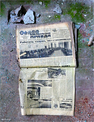 In a Pripyat School (Aad P.) Tags: chernobyl чорнобиль pripyat припять ukraine україна sovietunion cccp nuclearpowerplant radioactivity radiation urbex urbexphotography exclusionzone school newspaper pravda пра́вда komsomolskayapravda комсомо́льскаяпра́вда communistyouthunion komsomol комсомол