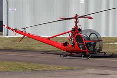Hiller UH-12 N5317V (egbjdh) Tags: simongregory march2018 egbj staverton gloucester