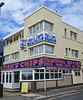 Britannia Fish & Chips, Blackpool, UK (Robby Virus) Tags: blackpool england uk unitedkingdom britain greatbritain fish chips restaurant takeaway take away food britannia traditional sign signage kebabs burgers chicken drinks fried