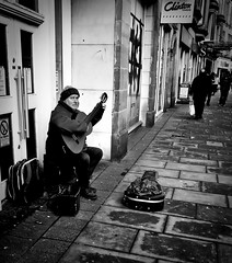 Dita (Tom McPherson) Tags: guitarist man acros dita street busker musician guitar cold acoustic chord elgin high music iphone 7