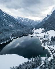 A Snowstorm is Coming (Fabian Fortmann) Tags: bavaria bayern alsp alpen lake hintersee ramsau drohne drone dji mavic winter snow storm sturm schnee eis ice water wasser deutschland germany