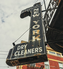 new york dry cleaners (alphabet soup studio / lenore locken) Tags: ©lenorelocken signgeeks ohio