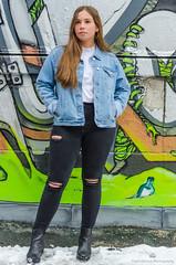 Éliane-24 (TheEvilDonut Photography) Tags: woman outdoors shooting portrait winter teen beautiful longhair montreal downtown