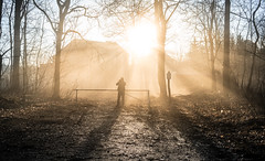 Pure Light (--Conrad-N--) Tags: sony sunrise shadow silhouettes light burst beams reflection za zeiss fence a7rm2 abandoned morning golden winter photographer flickr