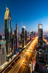 Dubai Nightrider (fresch-energy) Tags: dubai stadt city cityscape citylights stadtlichter abend abendstimmung evening eveningmood blauestunde bluehour blau blue nacht night sony a77 architektur architecture