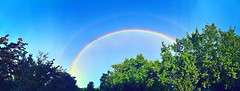 ~ Somewhere Over The Rainbow ....    Front Page .... (~ Cindy~) Tags: doublerainbow rockwood tennesee summer2017 blueskies greentrees archived frontpage 25