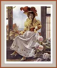 1893 Dec  COVER  From Figaro illustré,  (Paris), Woman sitting on a windowsill-  Hat - art by  François Flameng (skaradogan) Tags: robertchaefner robert haefner c bob