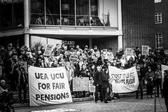 75/365 Strike Action (denise.ferley) Tags: saveourpension urban uk 365 oneaday thisisnorwich thisisengland life blackandwhitephotography strikeaction protesters citylife peopleinthestreet peoplewatching streetphotography
