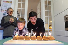 Birthhday vibes (domit) Tags: isaac tonton martin brother home laeken brussels belgium opa dad train cake candles