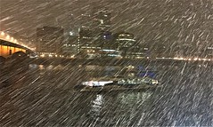 London tonight ...spring is definetly around the corner! (luthomas) Tags: london uk 18march winter snow snowstorm badweather freezing cold