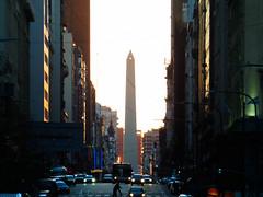 Feeling so small... (SimoneRossi848) Tags: argentina buenosaires buenos aires corrientes obelisco street city urban sunset avenida cuadras