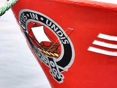 Tutus in Undis (calzer) Tags: bow undis motto latin zara annabel red tutus clan wood buckie boat