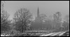 St. Edmunds Church. (Ian Emerson Thanks for the comments and faves) Tags: church winter trees outdoor mist fog canon snow walking spire worship