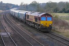 DB BIO (JohnGreyTurner) Tags: br rail uk railway train transport 66 class66 shed newbarnetby lincolshire diesel engine locomotive db dbs ews biomass