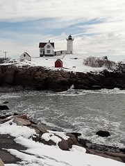 Post Storm Nubble (zicari.john) Tags: snow winter storm newengland southernmaine maine coast rocks shore