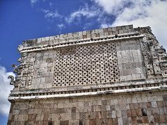Maya Ruins (Orange Attitude) Tags: maya ruins travel yucatan mexico uxmal messico viaggi site sky clouds history olympus building ciel