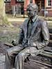 Alan Turing memorial statue - Manchester (phil_king) Tags: statue memorial alan turing computer scientist mathematician enigma codebreaker sackville gardens manchester england uk park