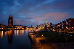 in blue | frankfurt, germany (kleptografy) Tags: deutschland europe frankfurt hessen spring barge bywater cityscape evening night river season sky urban totalphoto
