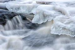 Cold Currents (Vincent Ferrari) Tags: adirondacks ice snow water waterfall current swift newyorkstate winter