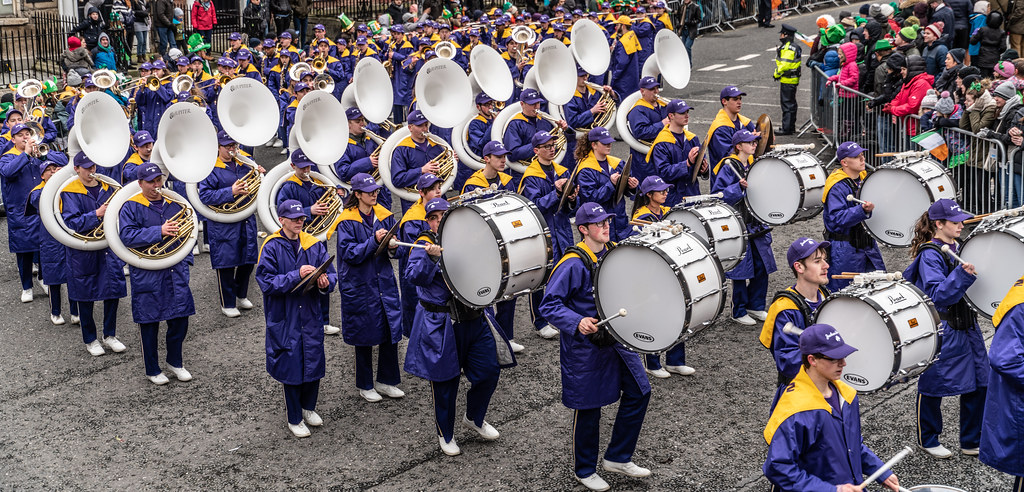 Jackson High School - Purple Army Marching Band [Dublin Patricks Day Parade 2018]-137638
