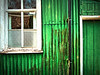 Village Hall (nerd.bird) Tags: hollybush village hall green tin building rust windows door weathered neglected paint cracks architecture wood
