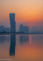 Hazy sunrise Hyatt Gate Abu Dhabi.jpg (Jhopne) Tags: abudhabi canonef2470mmf28lusm sky cityscape uae canoneos5dmarkii sunrise mar18