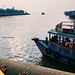 Looking at the ferries near Gateway of India