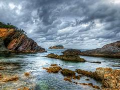 Jimmies island VI (elphweb) Tags: hdr highdynamicrange nsw australia coast coastal island rosedale rock rocks rockformation sky skies cloud clouds cloudy cloudformations jimmies jimmiesisland