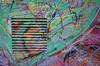 Abstract Detail of Graffiti (Anne Worner) Tags: anneworner bergen norway ricohgr sentralbadet graffiti street streetart streetphotography urbanart