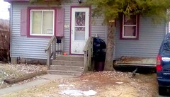 Neighborhood house - SFS 365/129 (Maenette1) Tags: house stairs car neighborhood menominee uppermichigan saturdayforstairs flicker365 michiganfavorites project365
