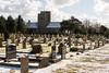 Ramsgate Cemetery - Twin Chapels & Tombs 2 (Le Monde1) Tags: ramsgate kent england ramsgatecemetery county graves tombs tombstones headstones lemonde1 nikon d800e dumptonpark snow georgegilbertscott nonconformist anglican twin chapels