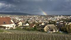 Arc-en-ciel sur Epernay (Oiseau Bondissant) Tags: arcenciel epernay coteaux ville