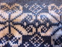 Blue Snowflake Sweater - Ladies (vintage-13) Tags: ladies womens grownup momsweater grandmasweater medium size 10 clasp forsale etsy sweater jumper blue pale white snowflake norway viking scandinavian daleofnorway designer pattern intricate christmas winter cold warm wool pure lyzzieetsycom