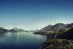 On my way to Glenorchy (Things happened to me) (josemanuelerre) Tags: nature forest lakewakatipu landscape glenorchy mountain reflection green blue outdoors impressive newzealand woods travel trees sky minimalism minimal solitude inspirationday story water quiet whimsical lordoftherings gollum