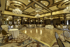make room for dancing (.sanden.) Tags: elmontesagrado taos newmexico nm ballroom riograndeballroom chairs dancefloor chandeliers mirrors canon7dmarkii efs1018mm