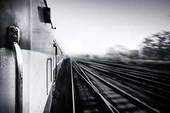 "A Journey into the Mist (""The Wanderer's Eye Photography"") Tags: 2017 bw bangalore canoneos450d canoneosdslr canoneosrebelxsi digitalphotography irfca india indianrailwaysfan indianrailwaysfanclub kerala photography rubenalexander susanalexander thewandererseyephotography asia background blackwhite blur blurred carriage commuter commuting destination express fast flash indianrailways infinity inside irctc journey landscape leadinglines light line monochrome motion movement parallel perspective quick rail railroad railway railwaytracks rapid route rush snafu speed sunrise track trail train transit transport transportation travel urban velocity view viewpoint way rlstevenson fromarailwaycarriage"