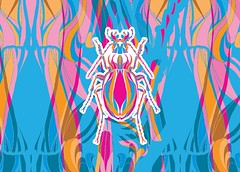 besouros juntos-11 (Allan Rodrigo) Tags: besouro besouros beetle psicodelia animação artevetorial artedigital vetor vector illustration color mushroom lsd