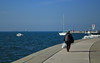 A Walk (MarryGj) Tags: sea person walking life boats koper slovenia summer