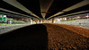 trolling (Paul Wrights Reserved) Tags: leadinglines lines under bridge manmade longexposure lightburst darkness light dark edmonton northcircular