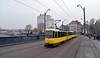 Tatra bij de BVG (lhb-777) Tags: tram brug bridge brücke tatra rails spoor gleis schiene bvg bijna niet meer more nicht mehre transport transportation strasenbahn bahn city stad vervoer geel yellow gelb berlin berlijn berliner oost east öst railroad route rijden driving